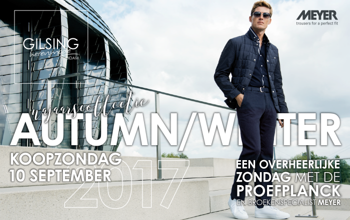 Koopzondag 10 september Autumn/Winter najaarscollectie 2017