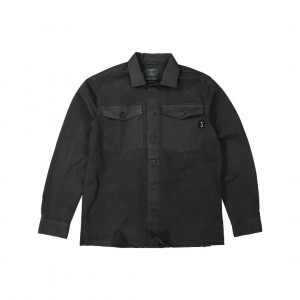 Butcher overshirt off black